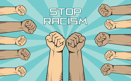 Stop racism illustration. Illustration
