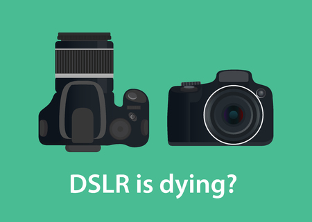dslr digital camera is dying or die because of the technology Ilustrace