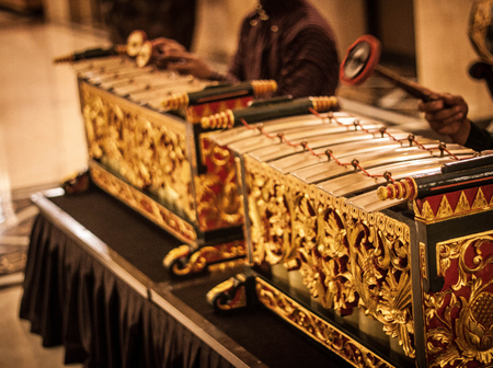 an exotic gamelan music traditional from jogja indonesia