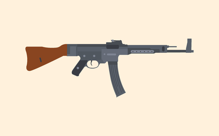 Rifle machine gun popular in vector graphic Ilustrace