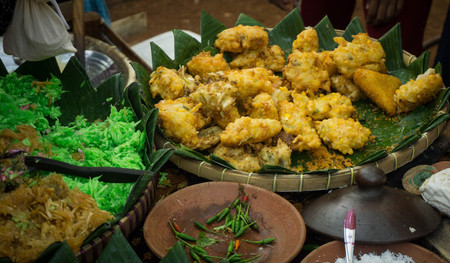 a bakwan traditional food from indonesia with corn photo taken in indonesia pekalongan asia