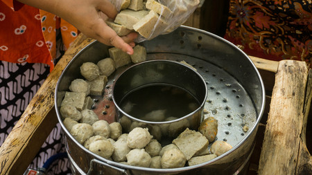 Indonesian Food, Bakso in the steamer or boiled in pekalongan central java