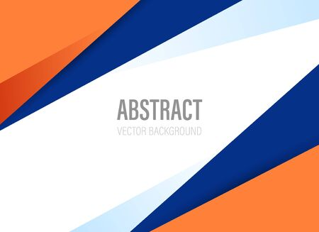 polygonal geometric abstract background with orange and dark blue color with modern style shape - vector illustration Stock Illustratie