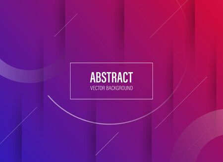 modern abstract banner background template with fluid paper cut effect and vibrant color - vector Stock Illustratie
