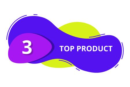 top 3 product banner list for modern template banner with vibrant color flat style vector 일러스트