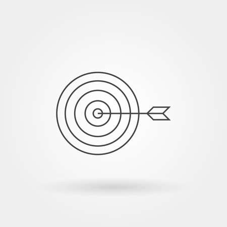goals target single isolated icon with modern line or outline style