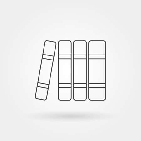 books on shelf single isolated icon with modern line or outline style