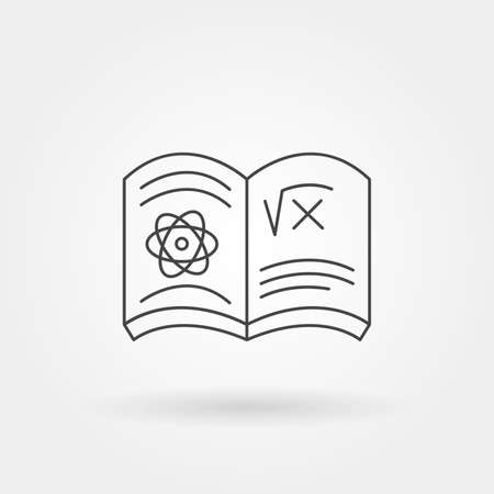 science books single isolated icon with modern line or outline style
