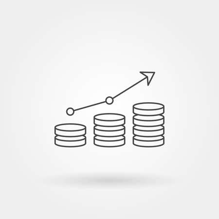 graph up single isolated icon with modern line or outline style