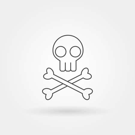 danger single isolated icon with modern line or outline style