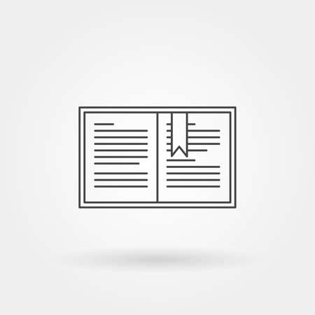 Bookmark icon single isolated with modern line or outline style