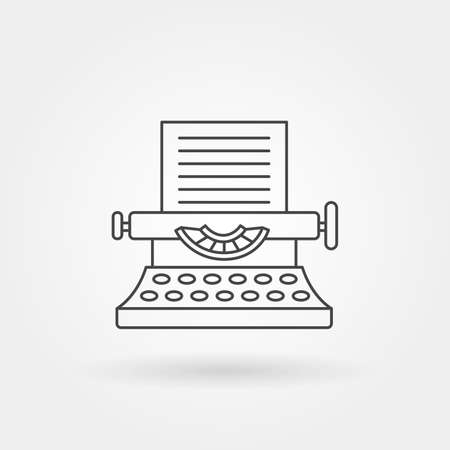 Typing machine icon single isolated with modern line or outline style