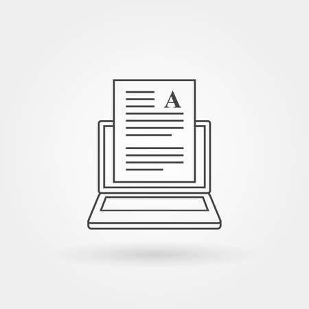 Copy writing icon single isolated with modern line or outline style