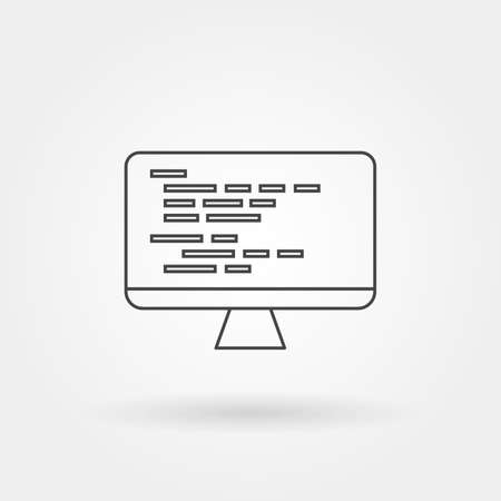 Programming icon single isolated with modern line or outline style
