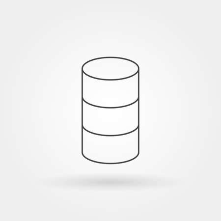 database icon single isolated with modern line or outline style