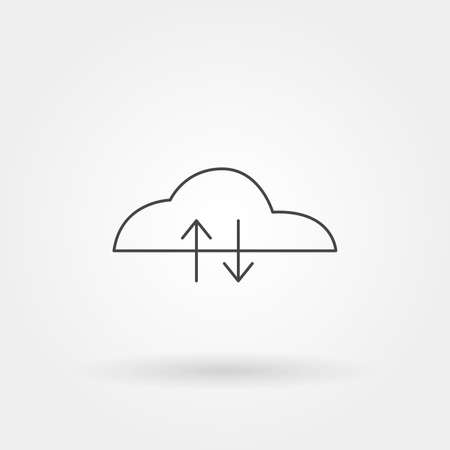 upload - download icon single isolated with modern line or outline style