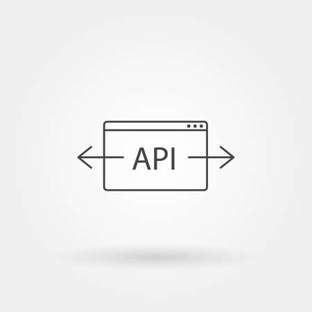 api icon single isolated with modern line or outline style