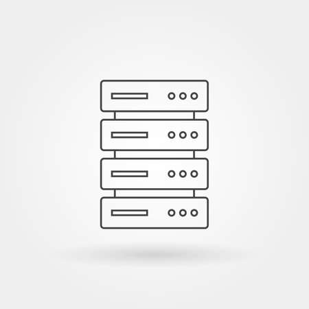 server icon single isolated with modern line or outline