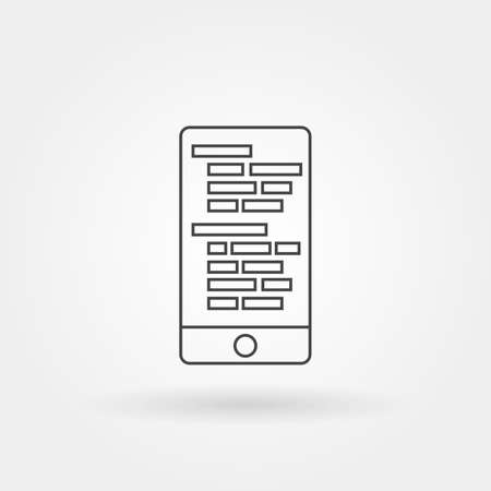 mobile programming icon single isolated with modern line or outline style