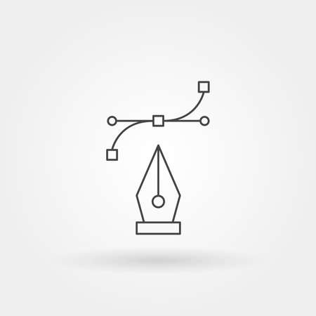 vector icon single isolated with modern line or outline style Stock Illustratie