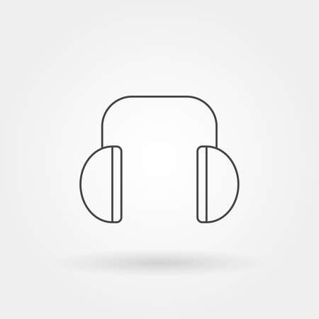 headphone icon single isolated with modern line or outline style