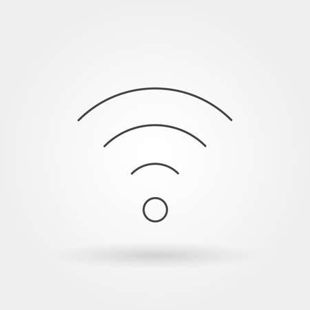 wifi icon single isolated with modern line or outline style