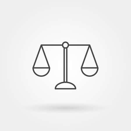 scale law single isolated icon with modern line or outline style vector illustration Illustration