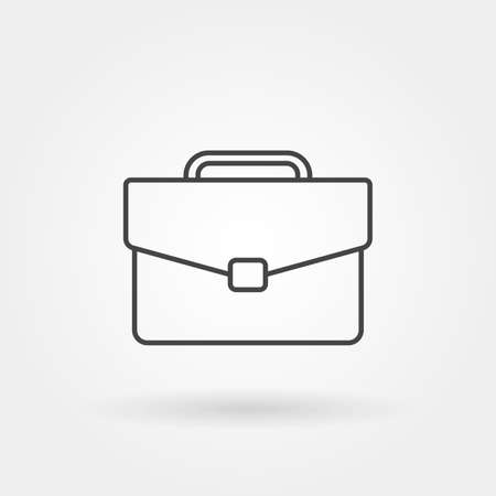 briefcase single isolated icon with modern line or outline style vector illustration