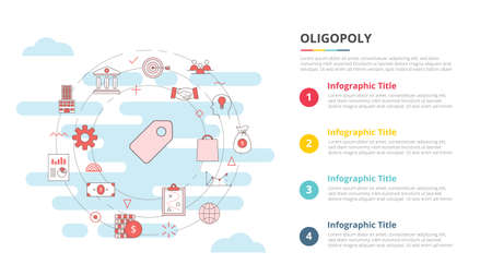 oligopoly concept for infographic template banner with four point list information vector illustration