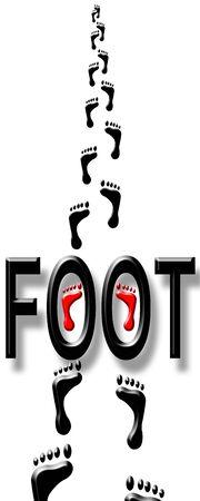 Foot prints Stock Photo - 5822527