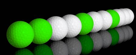 dimple: golf balls