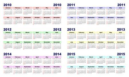 Illustration Kalender  Standard-Bild - 5927358