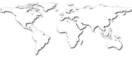 Weltkarte  Standard-Bild - 7252921