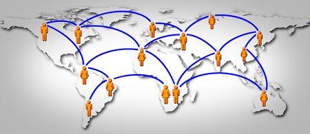 Welt soziale globales Netzwerk Standard-Bild - 7343661