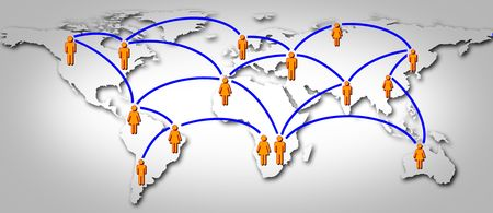 World social global network Stock Photo - 7343661