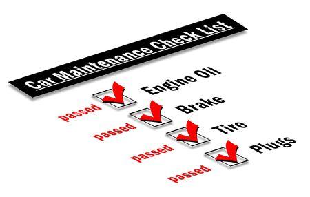 Car maintenance checklist Stock Photo - 7343729