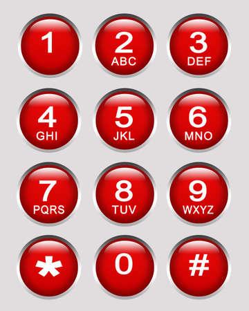 Number key pad