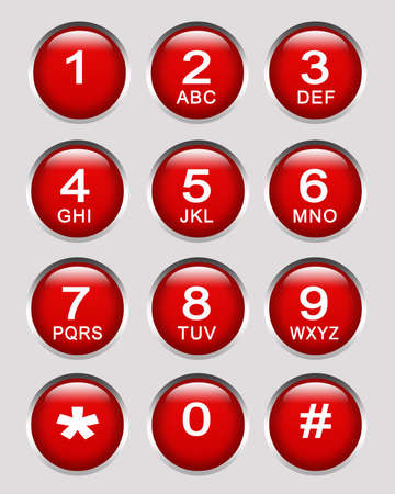 Number key pad  Stock Photo - 8186027
