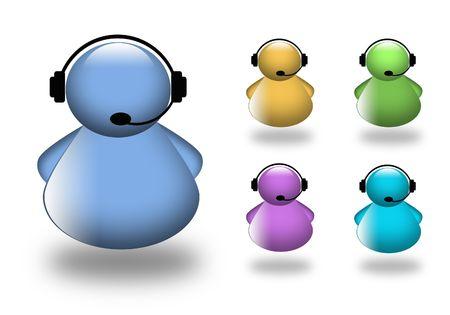 mobile headset: Pedir el icono de ayuda. Agente de tel�fono