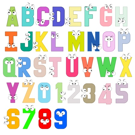 colorful alphabets block letter  免版税图像