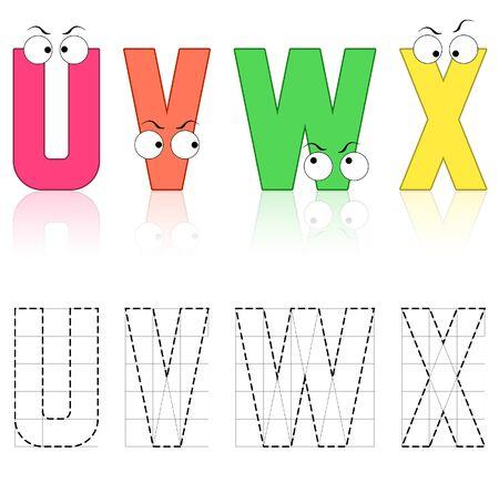 colorful alphabets block letter  photo