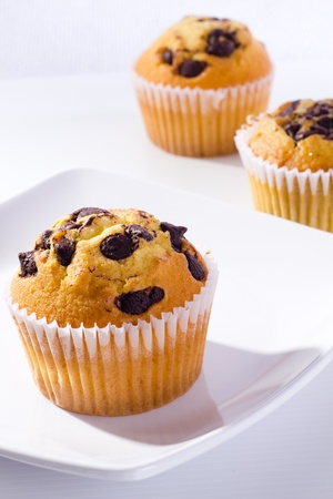 muffin with chocolate chip photo