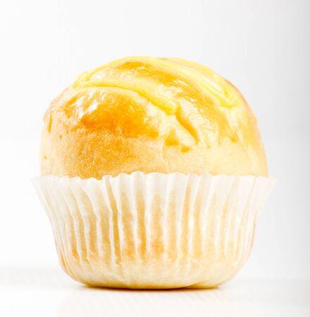 fresh bun on white background photo