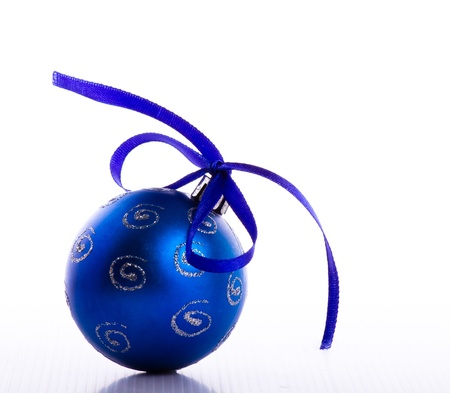 Blue christmas ball 免版税图像