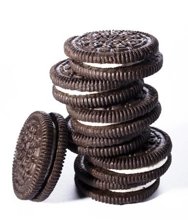 crème: Biscotti al cioccolato con crema di deposito