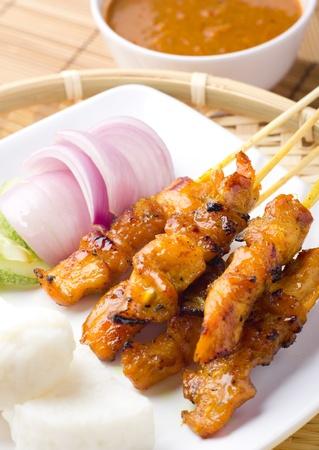 satay sauce: Delicious Asian Cuisine Chicken Satay