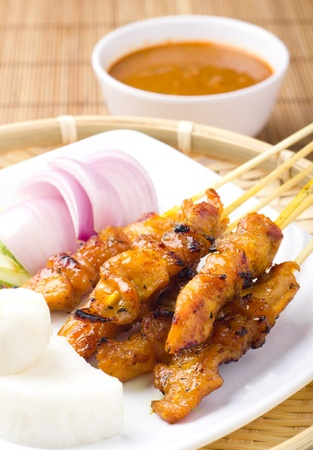 malaysian food: Delicious Asian Cuisine Chicken Satay