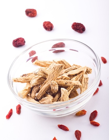 herbology: Traditional Chinese Medicine - Dangshen Stock Photo