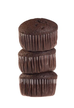 Chocolate muffin isolated on white background  photo