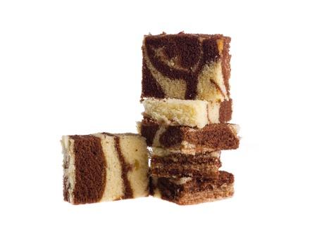 marble cake isolated on white background